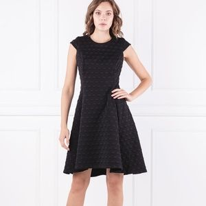 DKNY CAP SLEEVE FIT & FLARE Black Dress 8 Material